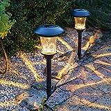 Ce lot de 2 piquets lumineux de haute qualité sont munis d'un diffuseur en verre magnifique. Proposant une installation facile et un design original, ils sont le complément idéal pour votre jardin - que ce soit pour baliser un chemin ou tout ...