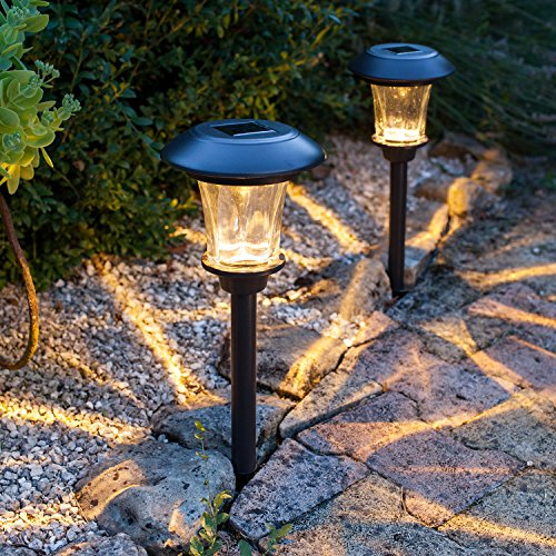 4er Set LED Solar Glas Stableuchten Lights4fun