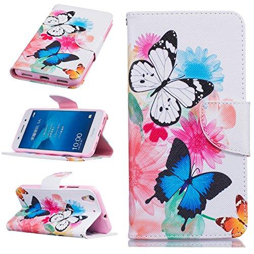 Preisvergleich Produktbild Huawei mobile phone skin protector accessories-Hülle aus Leder für Huawei Mate 8/Huawei Y3 ii/Y5 ii/Honor 5A/Y6 ii Telefone & Handys Zubehör (Huawei Y6 II / Huawei Honor 5A, Butterfly)