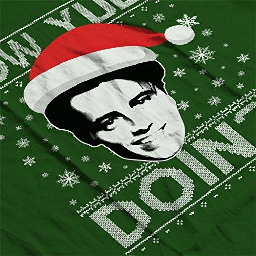 Friends Joey How Yule Doin Christmas Knit Pattern Women's Sweatshirt Bottle Green