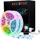 KooPower LED Strip 5M, RGB LED Streifen Farbwechsel Led Lichterkette Flexible APP-Steuerung LED Bänder Strips Bluetooth Kontr