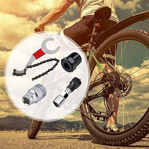 Fahrrad Reparatur Werkzeugsets für Radsport Flickzeug Mountainbike MTB Fahrrad Kurbel Kette Axia Extractor Removal Repair Tool Kit Fahrrad Kettenpeitsche Innenlager Freilauf Schraubenschlüssel