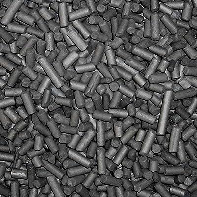 Pellets de charbon actif 3mm, avec sac en filet Charbon pour la filtration en aquarium ou bassin, 3 L