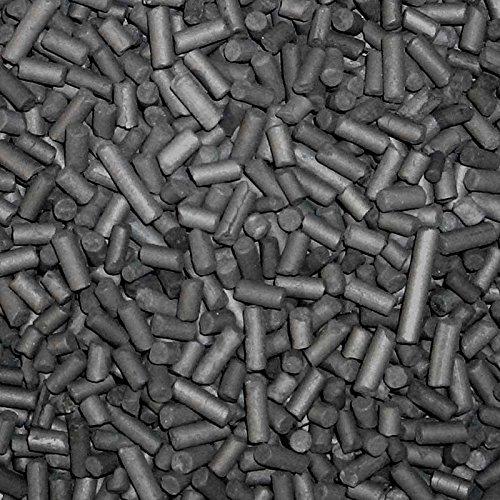 3 Liter Aktivkohle Pellets 3 mm, inkl. Netzbeutel, Kohle für die Filterung in Aquarien oder Teichfiltern