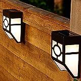 Docooler Solar Wandlampe Panel Sound & Licht Sensor 2 montiert LED Energie Licht Wandleuchte Wiederaufladbare für Zaun Wände Treppen(Nicht Enthalten Batterie)