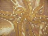 Pailettenstoff, Meterware ab 0,5 m (gold)