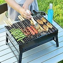 UTEN Barbacoa Portátil de Acero Inoxidable, BBQ de Carbón con Rejilla Portátil Plegable Barbacoa de Exteriores (3 – 5 Personas), Mini Barbecue