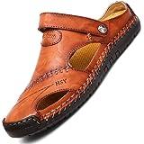 LIEBE721 Chaussures été Décontracté Sandale Hommes de Randonnee Cuir Trekking Sports Outdoor Plage Marche Respirant Sandales