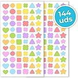 Haberdashery Online Pegatinas para niños | Gomets para Manualidades y decoración (Formas)