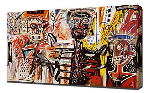 Philistines - Jean Michel Basquiat - Art Leinwandbild - Kunstdrucke - Gemälde Wandbilder - Basquiat Jean Kunst Michel
