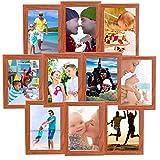 10Fotos 15,2cm Multi Aufhängen Bilderrahmen Collage Blende Wand Dekorieren Erinnerungen 14,8x 9,8, plastik, braun, 15,2 cm