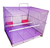#7: Petshop7 Imported, Beautiful Bird Cage For Birds Budgerigar, Finches, Love Birds- Purple (Large) 2ft Length