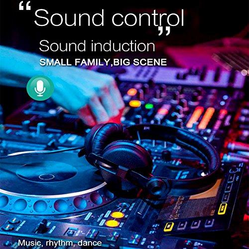 Miuko Mini Disco kugel , Partylicht Discolicht Magic Musik Discokugel Disco beleuchtung Partybeleuchtung DJ Discokugel mit Spiegeln und Glitzer für Parties mit integriertem Akku - 5