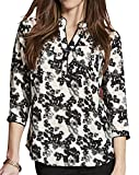 Womens Pocket Placket Blouse in Animal Print