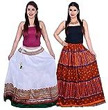 Jaipuri Print Cotton Skirt Combo Pack of...