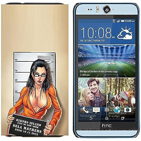 YiPhone /// Prima de resorte delgada de la cubierta del caso de Shell Armor - taza sexy nena delincuente disparó chica escote - HTC Desire Eye M910x