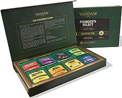VAHDAM, Sampler of assorted bustine di tè (40 bustine di tè) - Tea Sampler - Tè nero, tè verde, tè Oolong, tè Chai,...