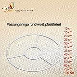 Fassungsringe rund weiß plastifiziert (60 cm)