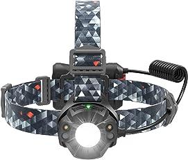 TaoTronics LED Stirnlampe Kopflampe (Automatik-Schaltung, CREE + Nichia LED, IPX5 Wasserfest, 4 Lichtmodi, 55 Grad Neigung, verstellbares Kopfband, geringes Gewicht) Zum Campen, Radfahren usw.