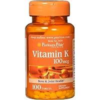 Puritan's Pride Vitamin K 100 mcg-100 Tablets