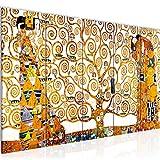 Photo Gustav Klimt - Tree of Life Décoration Murale 200 x 80 cm Toison - Toile Taille XXL Salon Appartement Décoration Photos d'art Blanc 5 Parties - 100% MADE IN GERMANY - prêt à accrocher 700055a