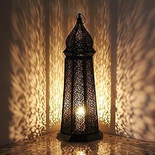 albena shop 73-118 Torre oriental lantern metal 58 cm black/gold
