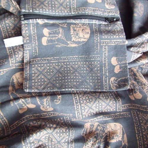 gah-gah , Damen Schultertasche Schwarz schwarz Medium Grau/Blau