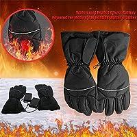 Guantes con calefacción a batería para hombres y mujeres impermeables, resistentes al viento, para ciclismo al aire libre, motocicleta