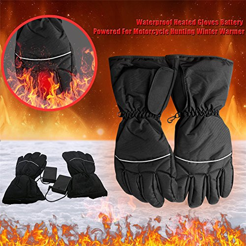 Resistente agua guantes calefactables pilas Moto caza