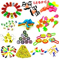 NIMU Premium 120 pcs Party Bag Fillers Party Favors Unique Designs Perfect Selections Ideal for Birthday Carnival Prizes Classroom Prizes Rewards Gift for Kids