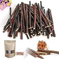 niceEshop TM 200g (198,4gram) Apple Bâtons pour animal domestique Snacks à mâcher Jouets pour petits animaux Lapin Hamster Cochon d'Inde jouet