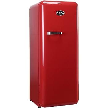 Vintage Industries ~ Retro-Kühlschrank Havanna in rot   50er Jahre Look   Größe 152,5 cm   Kühl-Gefrier-Kombination 302l   Getränke-Kühlschrank mit Gefrierfach/Gefrierschrank 21l