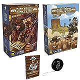 Lot 3 Extensions Dice Town FR de Matagot : Wild West + Cowboys +Pour une poignée de cartes+ 1 YoYo Blumie