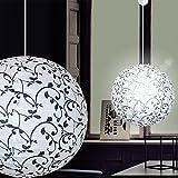 MIA Light Papier Kugel Hänge Leuchte Ø400mm/Asia/Schwarz/Weiß/Karton/Pendel Lampe Japan Lampion Hängelampe Hängeleuchte Papierkugel Papierlampe Papierleuchte Pendellampe Pendelleuchte