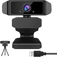 GEHUAY Webcam per PC con Microfono - Otturatore Webcam 1080P 30fps Telecamera PC Videoconferenza Webcam Full HD Stream…