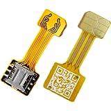 TECNOIOT Hybrid Dual SIM Card Adapter Micro SD Nano SIM Extension Adapter for Android |Cavo di Estensione Adattatore da…