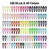 Lynlon 120 Stk Haarspangen Mädchen (40 Farben) Haarspangen | Haarclips | Kinder Haarklammern | Spangen | Klammern