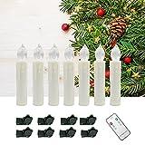 YESDA LED Kerzen Warmweiß Flammenlose LED Taper Christmas Kerzenlicht Kerzen betrieben, mit Fernbedienung, für Hochzeit, Votiv, Hochzeitsdeko, Partys, Geburtstags (10 Stück)