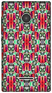 The Racoon Lean printed designer hard back mobile phone case cover for Microsoft Lumia 435. (psychedeli)
