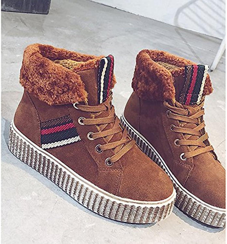 ZHZNVX HSXZ Scarpe donna pu inverno Comfort Cowboy Western Stivali Stivali tacco piatto rossoondo Mid-Calf Toe stivali... | Shopping Online  | Gentiluomo/Signora Scarpa