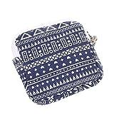 Hunpta Zipper Coin Purse Women Girl Cute Sanitary Pad Organizer Holder Napkin Towel Convenience Bags (Blue)