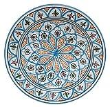 mink-living Tunesische Orientalische Keramik Schale Nabeul 35cm Couscous Teller Obstschale Servierschale Schüssel Orient Marokko