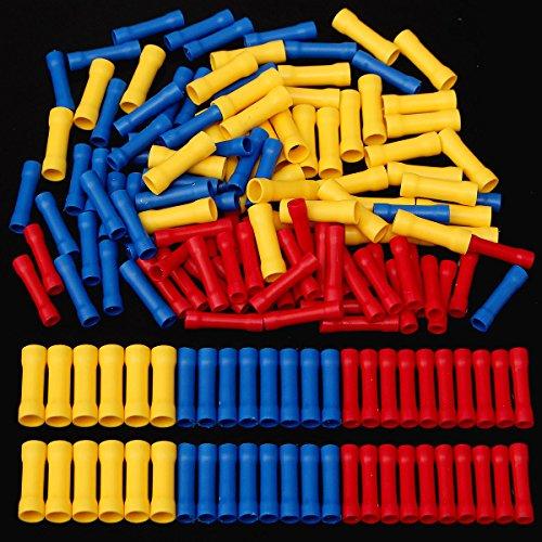 Tutoy 120Pcs PVC-Isolierter Stumpf Drahtverbinder Crimp-Klemme 0.5-6,0 Mm ² Kit