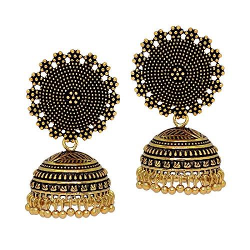 Jaipur Mart Jhumki Earrings for Women (Golden)(GSE247GLD)