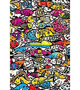 Fuson Premium 2D Back Case Cover Fishes pattern With Pink Background Degined For Sony Xperia M5 Dual E5633 E5643 E5663:: Sony Xperia M5 E5603 E5606 E5653