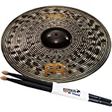 'Meinl Classics Custom Dark cc20dar 20 Ride Platillos + baquetas Keepdrum 5BB