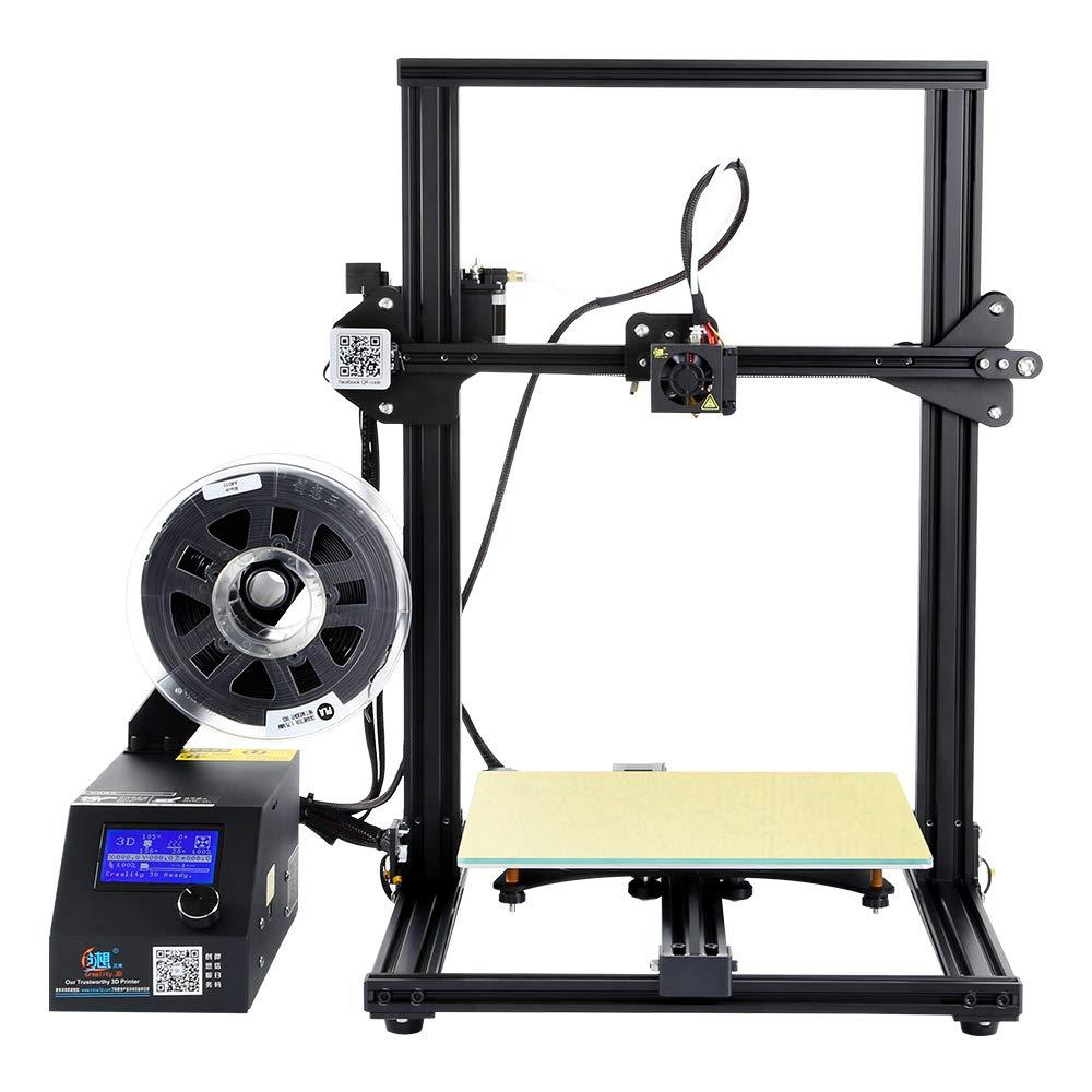 Comgrow Original Creality Imprimante 3D CR-10S, Taille d'impression 300 * 300 * 400mm, Détecteur de Filament, Reprise de Pause, Vis de Guidage à axe Z Double, Kit assemblé Rapide