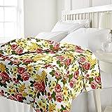 eCraftIndia Beautiful Flowers Single Bed...