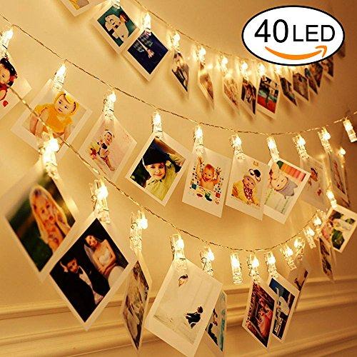 LED Foto Clips Lichterkette, Ubegood Foto Clips 4.2M USB Stromversorgung Stimmungsbeleuchtung Dekoration 40 Photo Clips für Zuhause, Party, Weihnachten, Dekoration, Hochzeiten (Warmweiß)