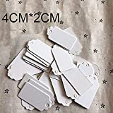 Rzctukltd 100pcs small 4cm*2cm Gift Tags/Kraft Hang Tags with Free Cut Strings for Gifts Crafts and Price Tags Scalloped Tag Style Color Rectangular With strin